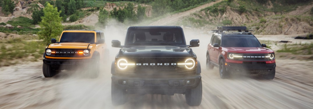 What are the Horsepower and Torque Ratings for the 2021 Ford Bronco Lineup at Brandon Ford in Tampa FL?