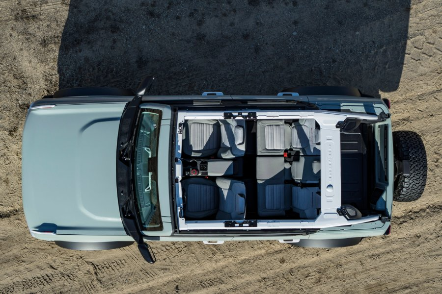 aerial view of a 2021 Ford Bronco