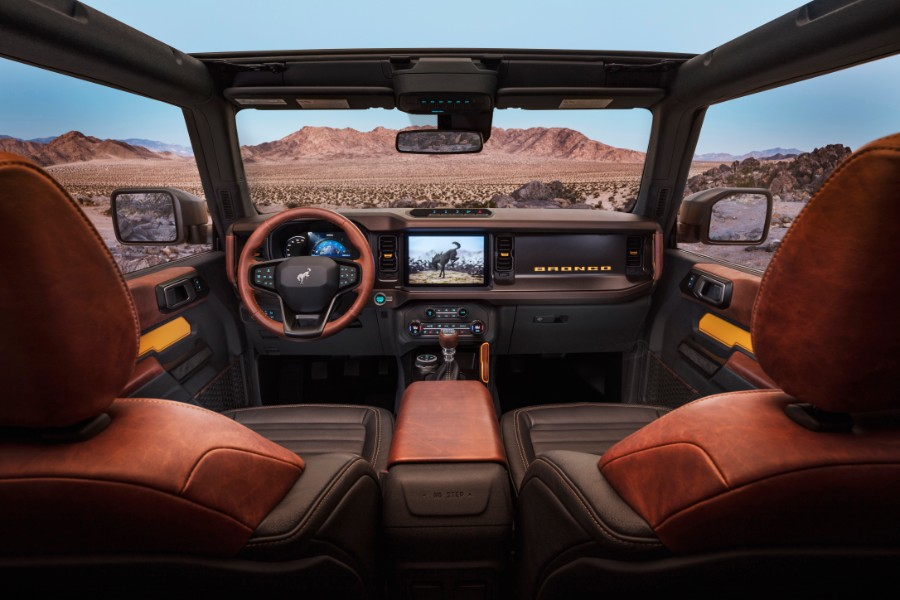 front interior of a 2021 Ford Bronco 2-Door