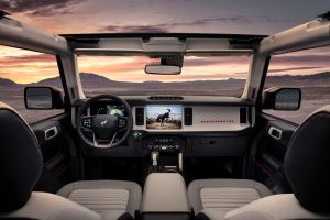front interior of a 2021 Ford Bronco 4-Door