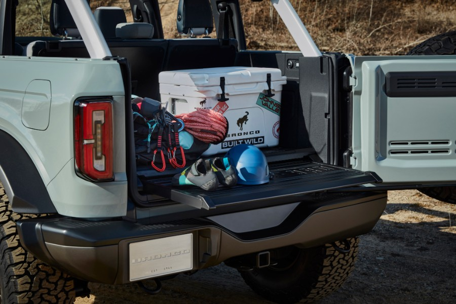rear cargo area in a 2021 Ford Bronco