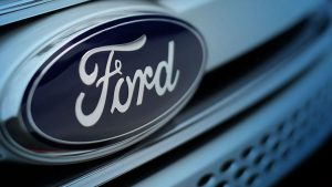 Ford badge on a grille