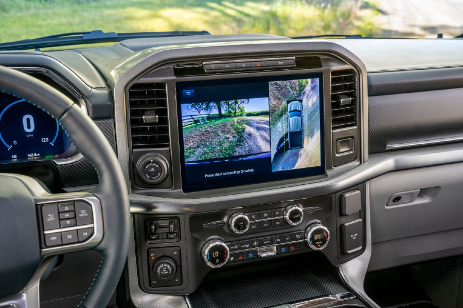 infotainment system in a 2021 Ford F-150