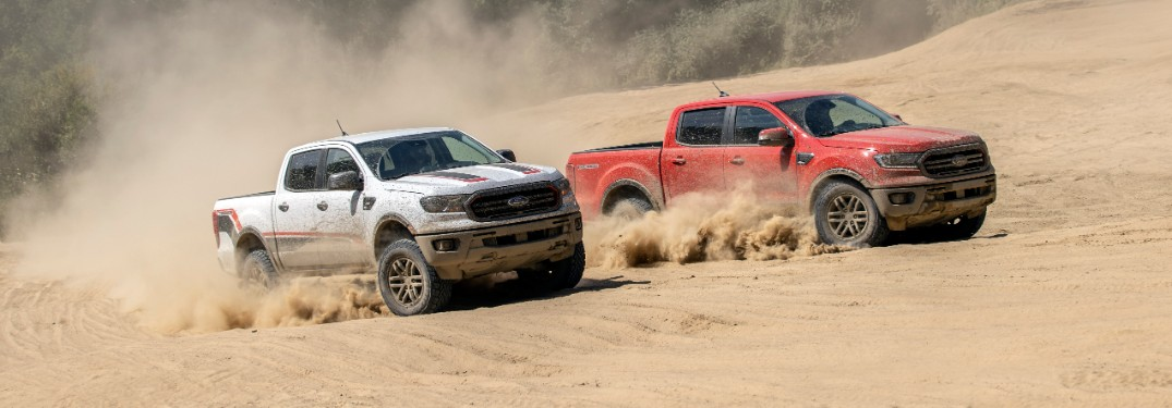 two 2021 Ford Ranger trucks