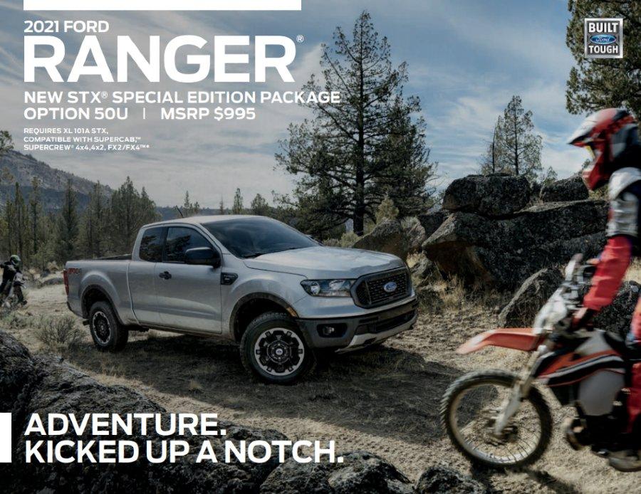 2021 Ford Ranger SXT Fact Sheet