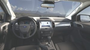 front interior of a 2021 Ford Ranger SXT