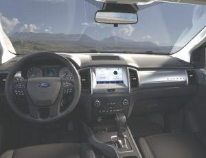 front interior of a new 2021 Ford Ranger