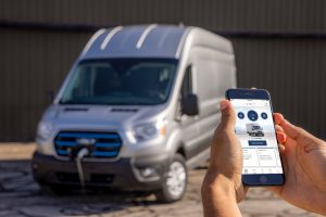 cell phone and a charging 2022 Ford E-Transit