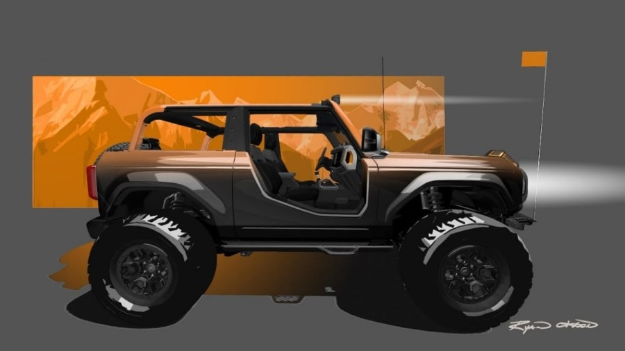 side view of a Ford Bronco Badlands Sasquatch 2-Door Concept