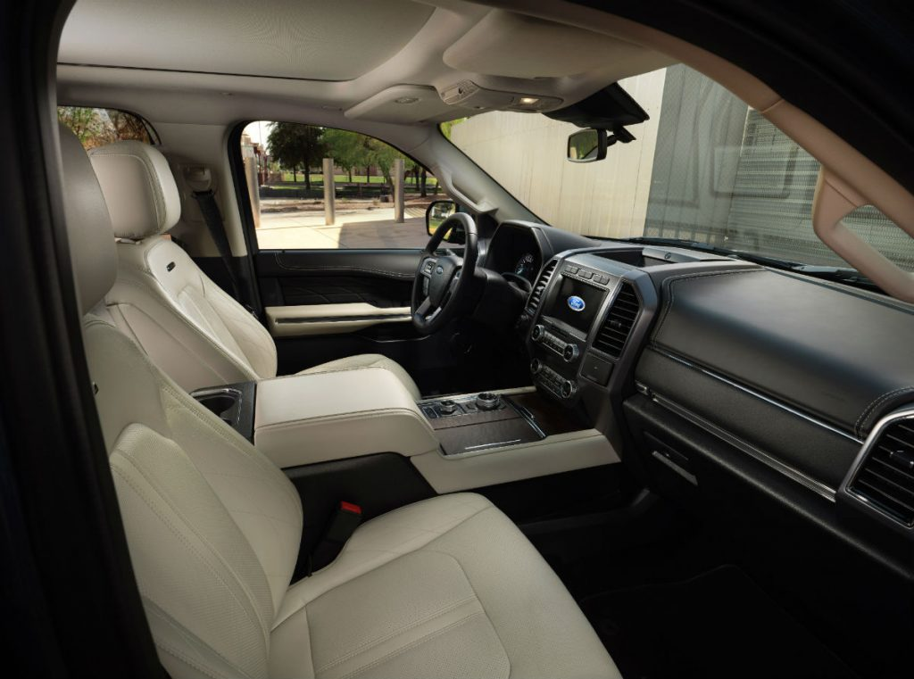 front interior of a 2021 Ford Expedition
