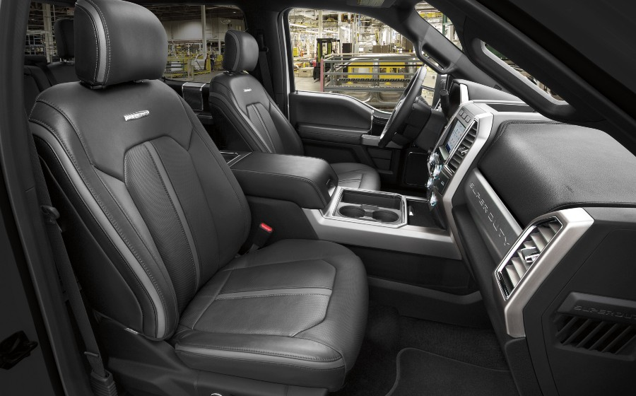 front passenger space in a 2021 Ford Super Duty