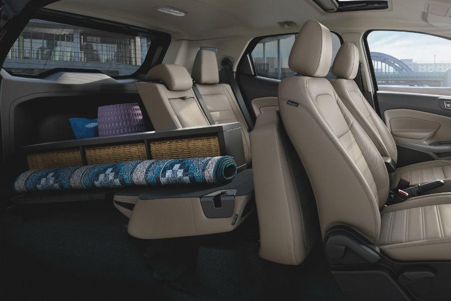 rear interior of a 2021 Ford EcoSport