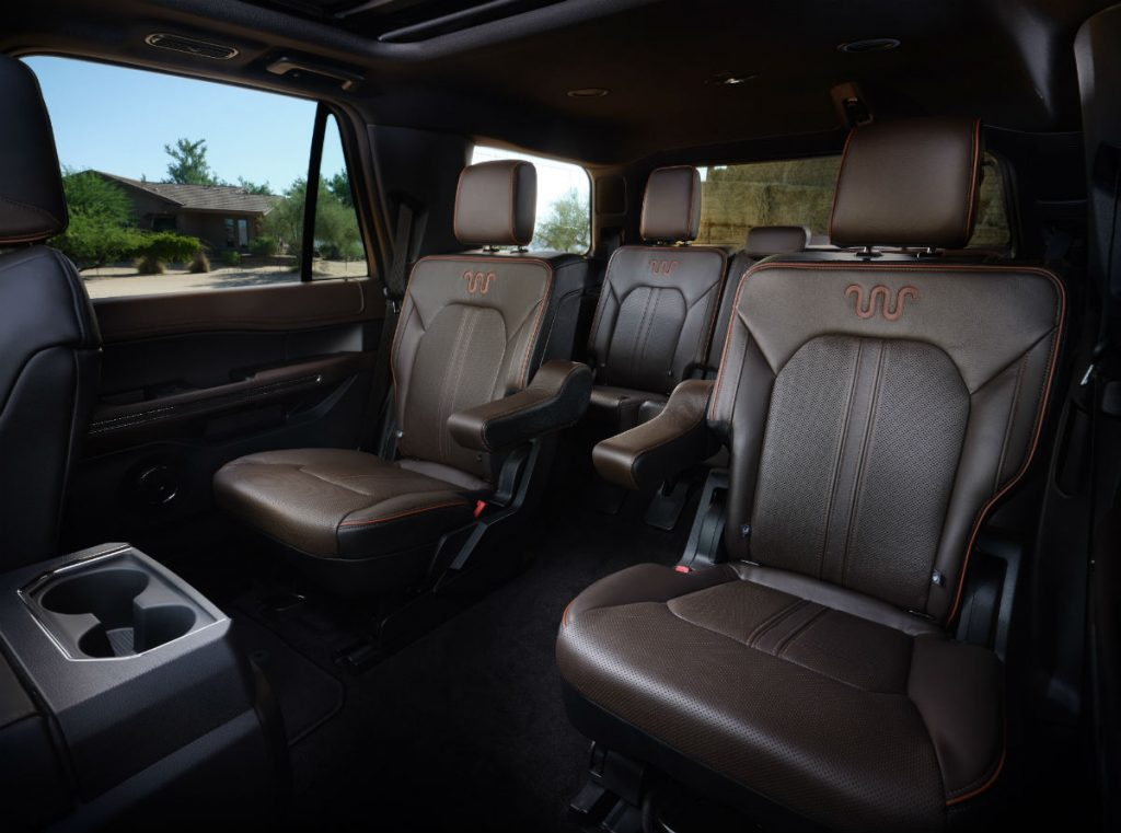rear interior of a 2021 Ford Expedition