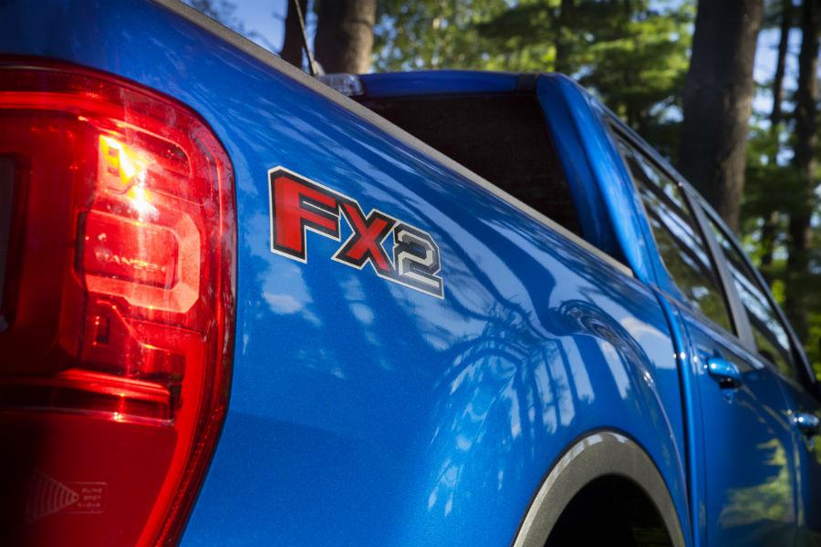FX2 logo on a 2021 Ford Ranger