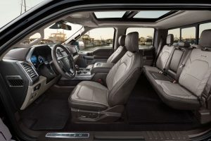 full interior of a 2021 Ford F-150