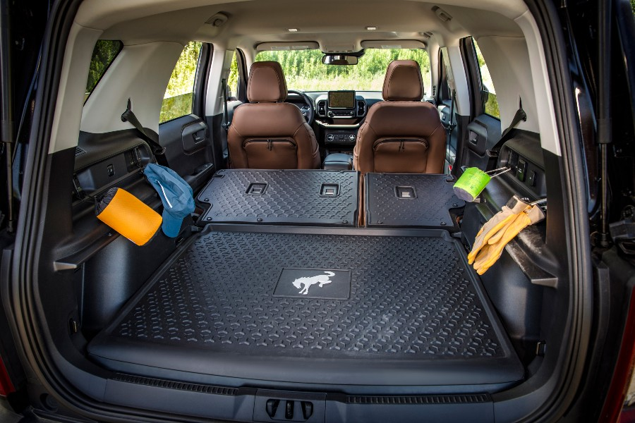 rear cargo area of a 2021 Ford Bronco Sport