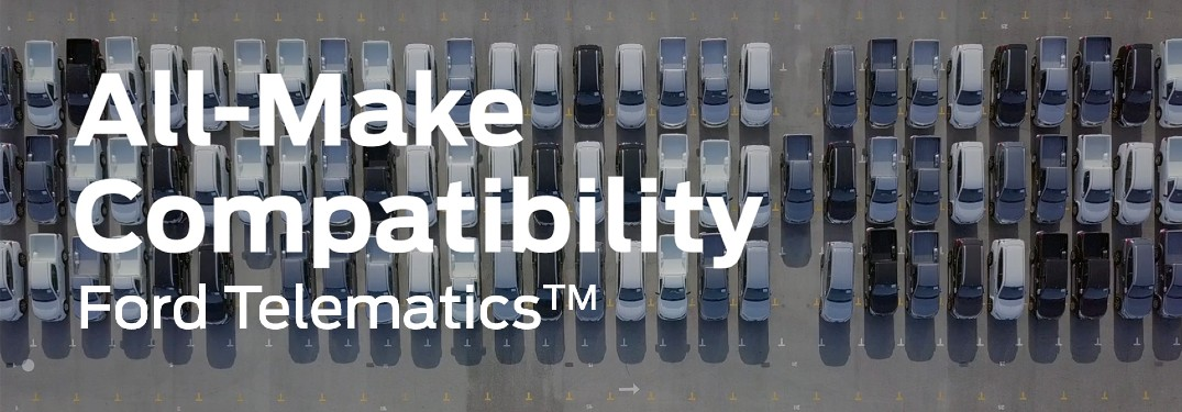 all make compatibility written over an aerial view of a car lot