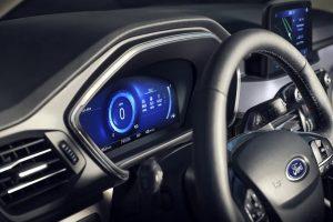 driver dash in a 2021 Ford Escape