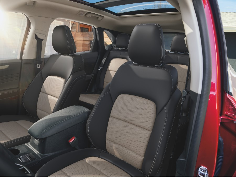 front seats of a 2021 Ford Escape with the Titanium Elite Package