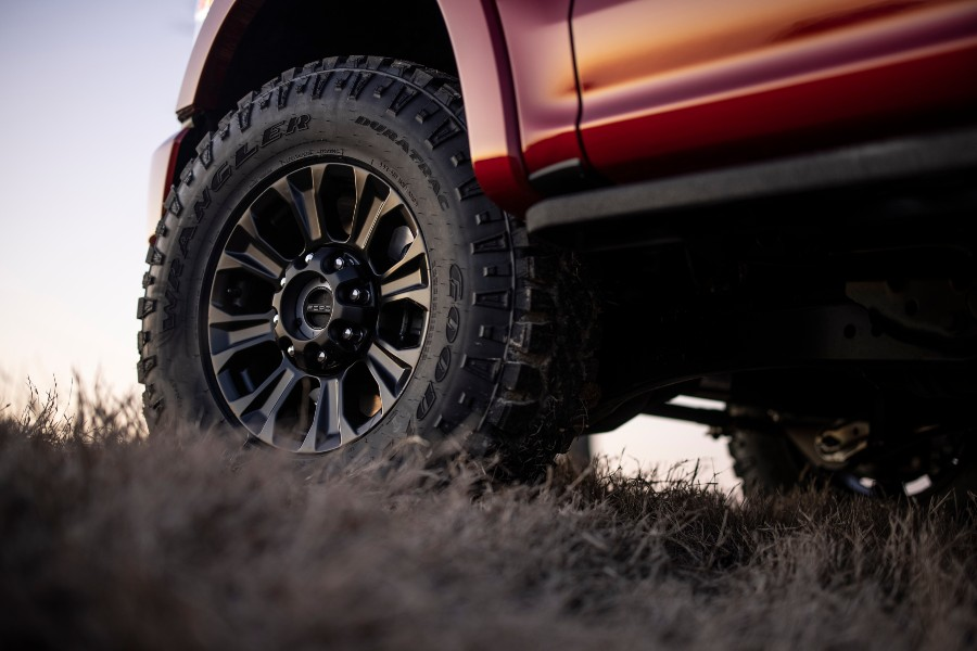 tire of a 2022 Ford Super Duty