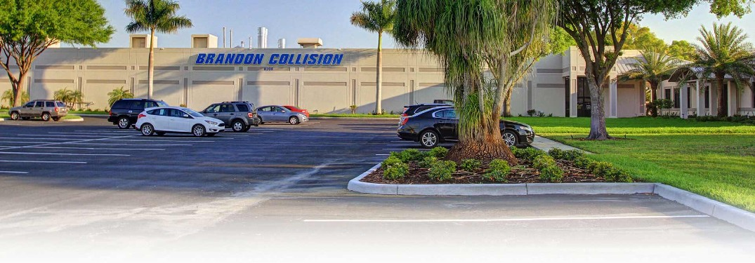 front of the Brandon Collision building
