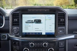 smart hitch on the infotainment system of a 2021 Ford F-150
