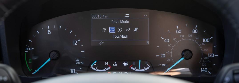 driver dash of a 2022 Ford Maverick