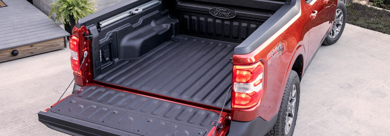 cargo Flex bed of a 2022 Ford Maverick