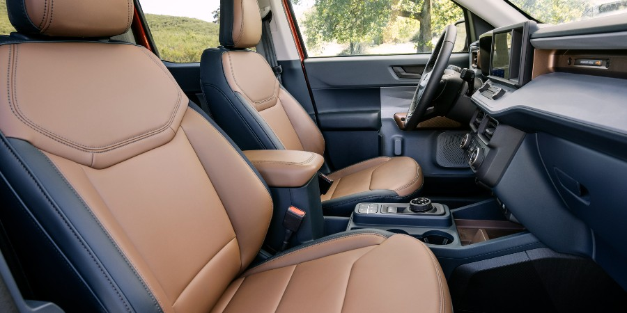 front passenger space in a 2022 Ford Maverick