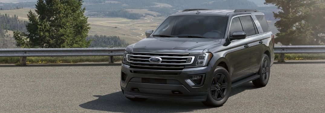 2021 Ford Expedition Front Left-Quarter View parked with a scenic background