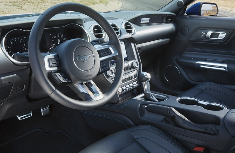Front dash of the 2021 Ford Mustang