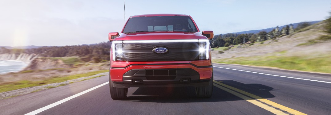 2022 Ford F-150 Lightning from exterior front