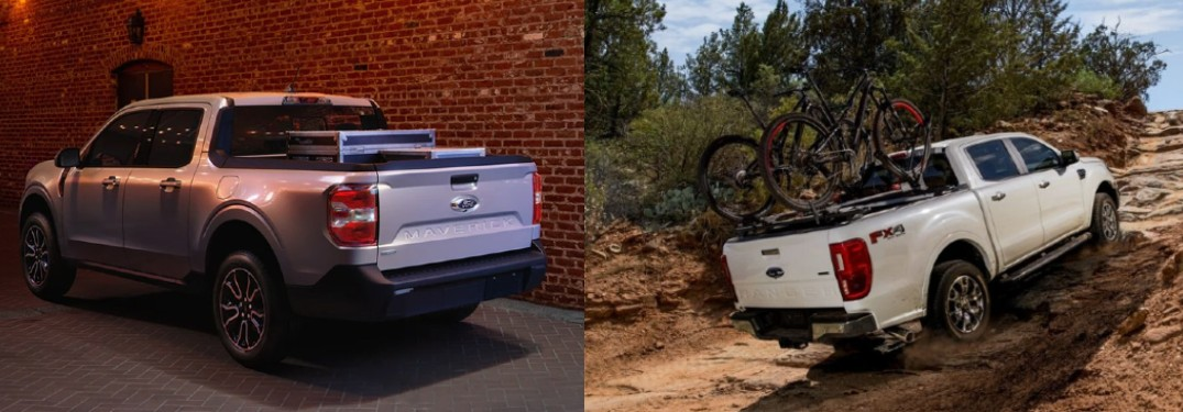 How big is the Ford Maverick compared to the Ford Ranger?