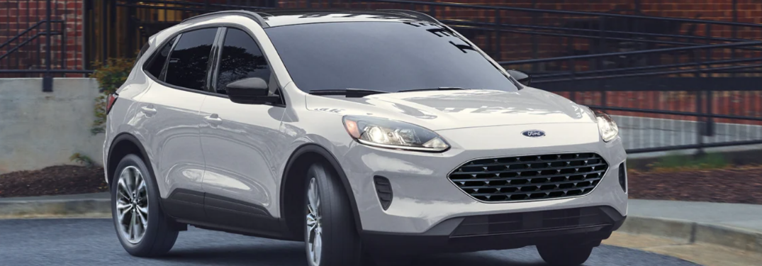 2021 Ford Escape in front of a building