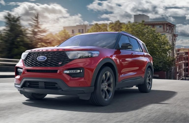 Front-view of the 2021 Ford Explorer ST