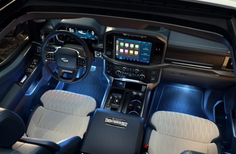 Cockpit of a 2021 Ford F-150