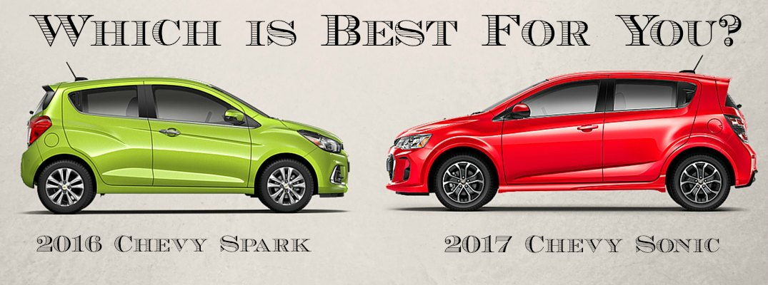 2016 chevy spark vs 2017 chevy sonic. Black Bedroom Furniture Sets. Home Design Ideas