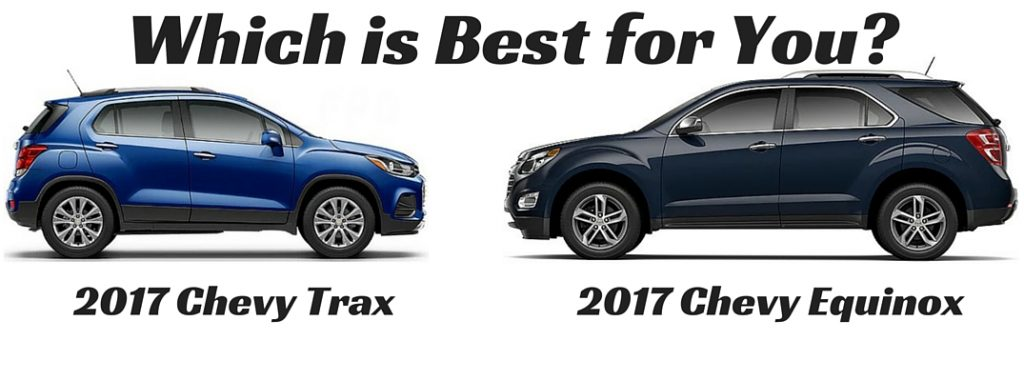 2017 Chevy Trax Vs 2017 Chevy Equinox