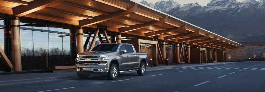 2019 silverado parked in front of mountains