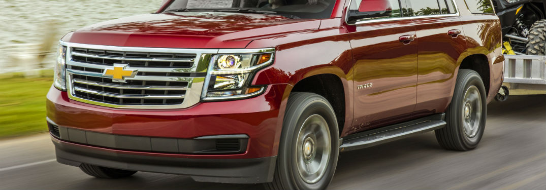 closeup of 2018 chevy tahoe grille