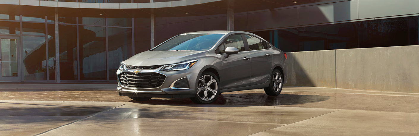 silver 2019 chevy cruze on tan ground