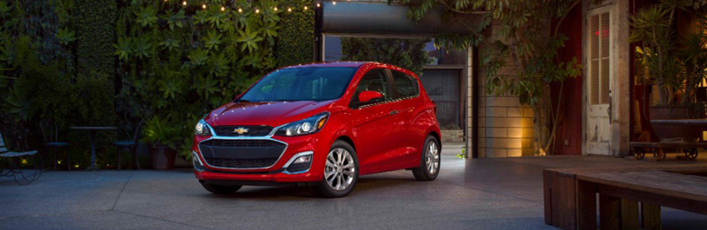 red 2019 chevy spark by building