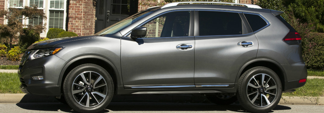2018 nissan rogue silver exterior side