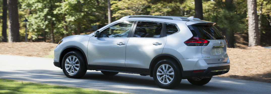 silves 2018 nissan rogue driving on forest road