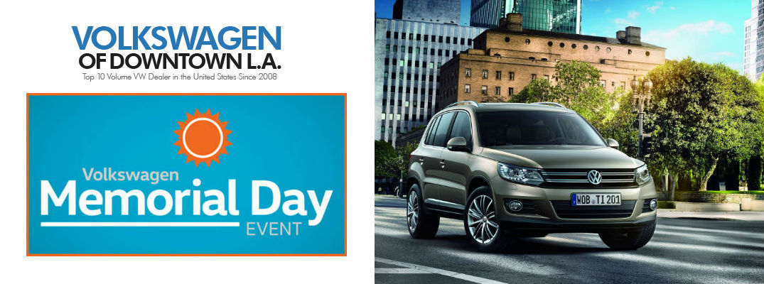car sales downtown LA 2015 volkswagen memorial day