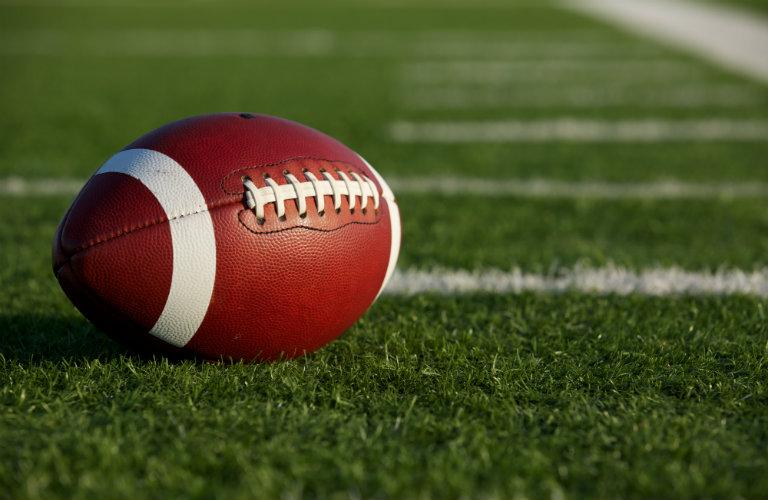 football laying on field