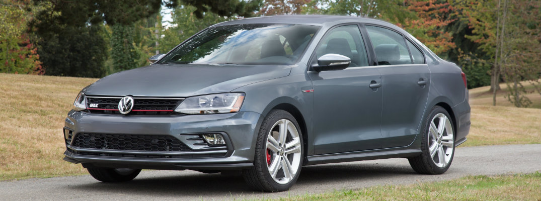2017 VW Jetta GLI parked on a road