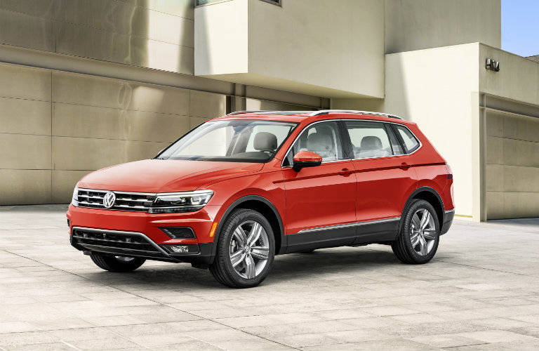 2018 VW Tiguan in red