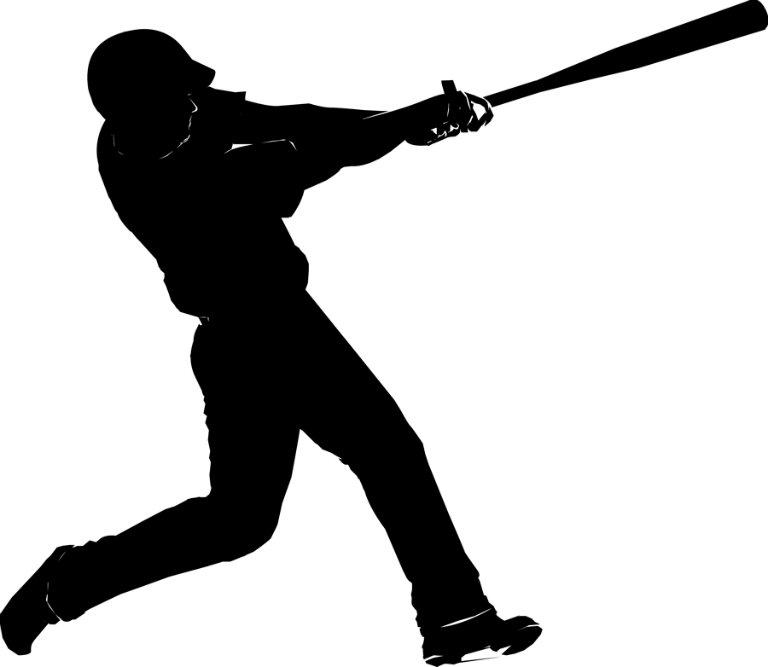 silhouette of baseball hitter