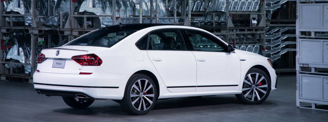 2018 VW Passat GT in a factory